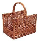 Firewood Basket / Natural Brown / Depth 39cm x Height 29cm x Width 32cm by Backideen