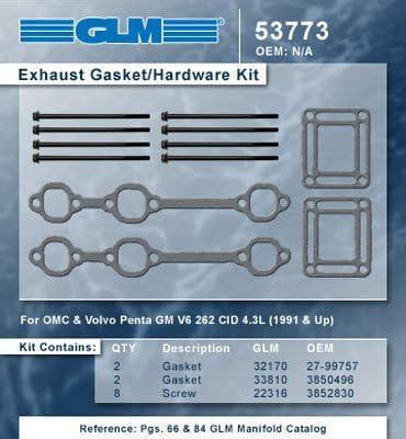EXHAUST Dallas Elegant Mall GASKET HARDWARE SET 53773 Number: GLM Part
