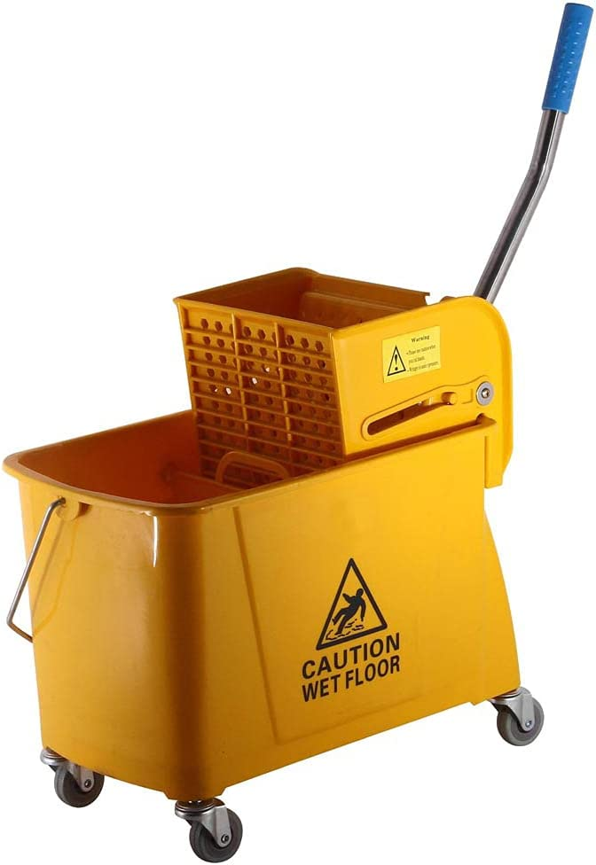 Zion 24L Small Commercial Design Yellow Mop Wr online shop Bucket Press Side Clearance SALE Limited time