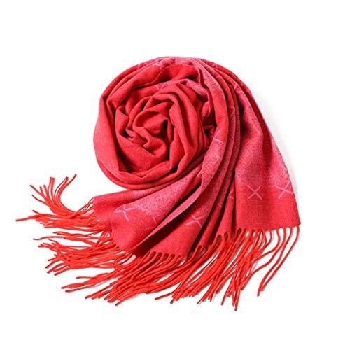 SUFLANG Avond Wrap of Sjaal | Jacquard weven sjaals | Verlenging kwast Rose rood | Dames sjaals sjaals | Afstuderen | Bruidsbruiloft | Girlfriend Gifts