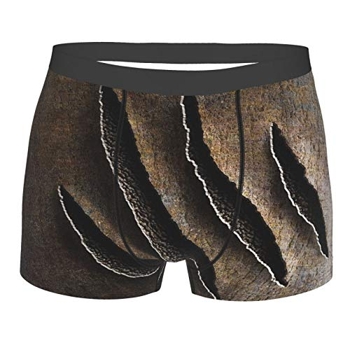 Wild Claws Damage on Rusty Iron Beast Unterwäsche Herren Stretch Classic Fit Boxershorts No Ride Up Gr. S, Schwarz