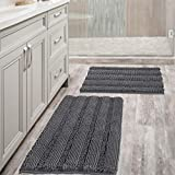 ULTRA THICK: Compare the normal quality 1350g/sm, this plush chenille carpet set is more thick and bushy, quality up to 2000g/sm weight, thus make the bath mats amazing soft and cozy like a comfortable quilt protector for your feet EXTRA ABSORBENT: T...