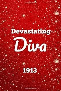 Devastating Diva 1913: Blank Lined Journal