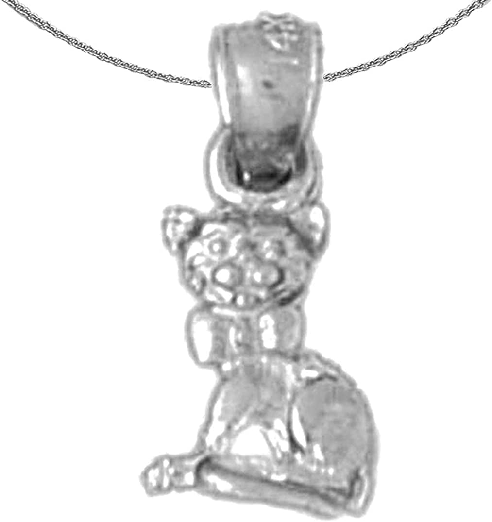 Price reduction Jewels Long Beach Mall Obsession Gold Cat White Pendant 14K Necklace