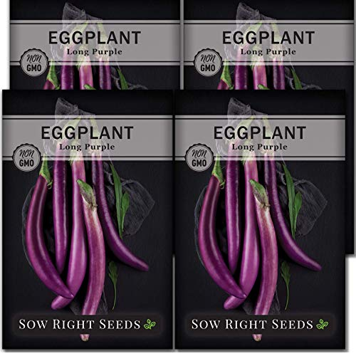 Sow Right Seeds - Long Purple Eggplant Seed for Planting - Non-GMO Heirloom...