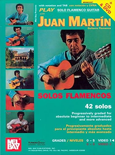 Play Solo Flamenco Guitar with Juan Martin Vol. 1: Buch, CD, DVD (Video), Lehrmaterial für Gitarre