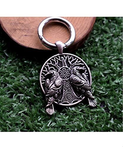 Rabenbanner Raven Wikinger Vikings Schlüsselanhänger Metall Odin | Valknut | Geschenk | Thor | Mjölnir | Runen | Rabe
