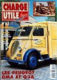 CHARGE UTILE MAGAZINE [No 63] du 01/03/1998 - LES PEUGEOT DMA ET Q3A -LES DODGE DE L'ARMEE FRANCAISE EN AFRIQUE -TRANSPORTEURS / LA STH -AUTOCARS / LE BERLIET RANDONNEE -INCENDIE / BERLIET GUINARD