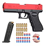 Upwsma Soft Bullet Toy Gun, a Safe Soft Bullet That Will Not Harm The Human Body, Simulates Real Manual Loading, and is a Cool Toy That Exercises Children's Physical Coordination(Red)