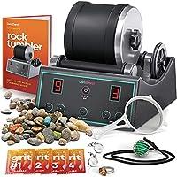 Advanced Professional Rock Tumbler Kit - with Digital 9-day Polishing timer & 3 speed settings - Turn Rough Rocks into...