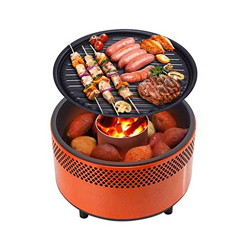 YFGQBCP Mini Home Outdoor Charcoal Grill, Carbon Grill Smokeless Portable Windproof Grill for Party/Family