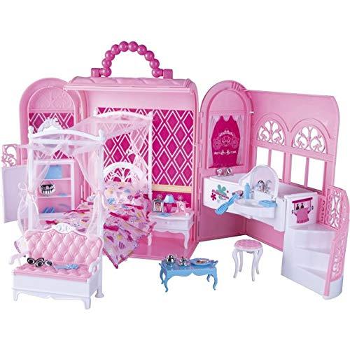 Besttoy - Schlafzimmer und Bad für Modepuppen - Tragbar