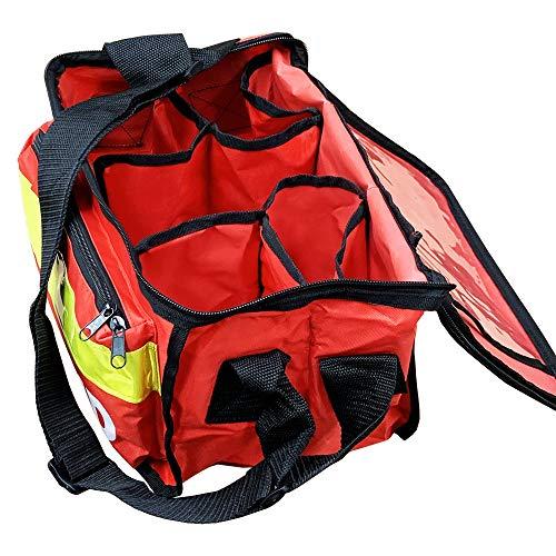 JFA Medical Roter Haversack Erste-Hilfe-Tasche mit Vordertasche, leer