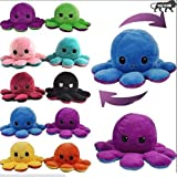 Easy to flip inside out so you can show your mood to the world. These super soft toys are perfect for playing, collecting & cuddling. A cute reversible plush Octopus with two different expressions. These stuffed toys are the perfect gifts for holiday...