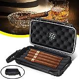 Cherishly Humidor de Voyage de Cigare, 5 étui de Cigare de Voyage étanche Antichoc avec hydratant...