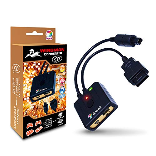 Brook Wingman SD Support Xbox 360 Xbox One Xbox Elite Xbox Elite Series 2 PS3 PS4 Switch Pro Controller to Dreamcast Saturn Console PC X-Input Converter Gaming Adapter Turbo and Remap