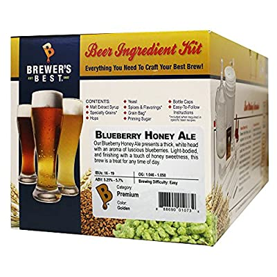 Brewer's Best - Home Brew Beer Ingredient Kit (5 gallon), (Blueberry Honey Ale)
