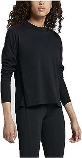 Women's Sportswear Bonded Long Sleeve Top-Black-Small