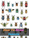 How To Draw Insects: an art drawing book to learn the step-by-step way to draw bugs, birds, butterflies, scorpions, slugs, spiders and many more for the beginner and kids age 9-12