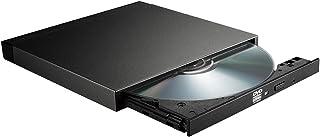 Logitec DVDドライブ CDドライブ バスパワー対応 usb 外付け CD/DVDドライブ 超薄型 超軽量 Windows/Mac対応 M-Disc対応 ロジテック LDR-LPWBW8U2NDB