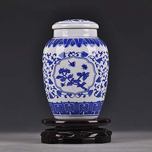 QYWSJ Bleu Et Blanc en Porcelaine, Chine à La Main, Chine Qing Style Jingdezhen, AntiquitéS TrèS Bonne Porcelaine Peinte à La Main Fleur en Porcelaine