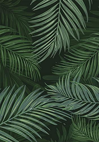 Deco&Fun - Alfombra Vinílica Nature Palm 200x140cm - Alfombra PVC Alfombra vinílica Cocina- Alfombra vinílica salón - Alfombras de Vinilo