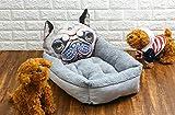 Ulalaza Cama para Mascotas Que se calienta para Gato o Perro Sofá Cama para Mascotas de algodón Engrosado de Dibujos Animados de Moda