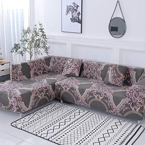 WXQY Geometrisches Muster L-förmige Kombination Sofabezug Sofa Handtuch Wohnzimmer All-Inclusive staubdichte Sofabezug Bezug A8 1-Sitzer
