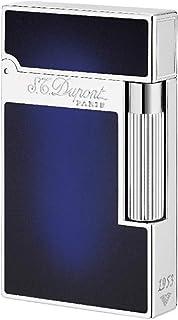 S.T Dupont D-016301 - Mechero Lacado Natural, Acabado Paladio, Color Azul Medianoche