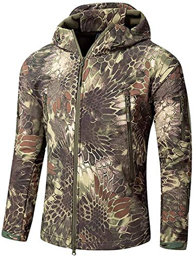 Xucherry Men Winter Waterproof Soft Shell Army Camouflage Jacket Coat Military Tactical Jacket