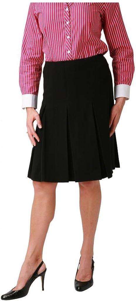 woolmaster Women's Stretch Wool Pleated Skirt