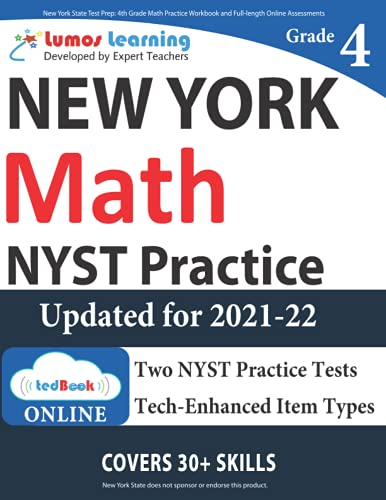 New York State Test Prep 4th Grade Math Practice Workbook And Full Length Online Assessments Nyst Study Guide