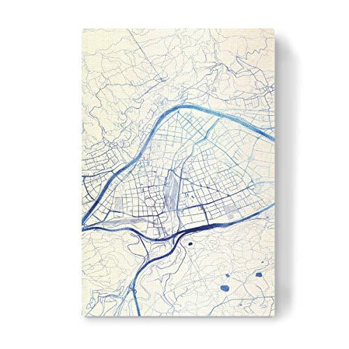 artboxONE Leinwand 60x40 cm Städte Innsbruck O?sterreich Blue Infusion Map I von Makadi Atatu