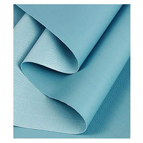 Tissu D'ameublement Tissu d'ameublement similicuir au mètre - Faux cuir - pour ameublement, canapé, chaises, sacs- Vendu au mètre -1,38 x 1 m (4.5ft ×3.3ft ) ( Color : Sky blue , Size : 1.38×1m )