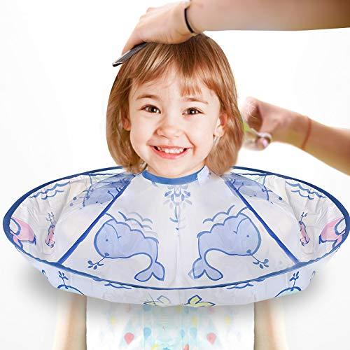 Kinder Haarschnitt Friseurumhänge, MS.DEAR Kinderhaar Kinder Umhang mit Flexibel Klettverschluss, Leichtgewicht Wasserdicht Haarschneidezubehör Friseur für Familien Friseursalon