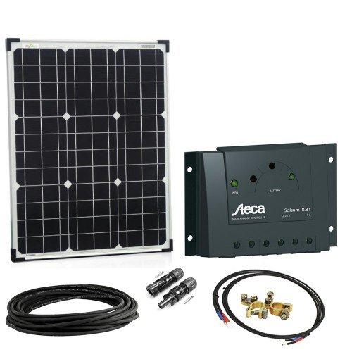 Offgridtec Solar Bausatz Basic Starter, Solarmodul Laderegler Kabel, 50 W, 12 V, 002645