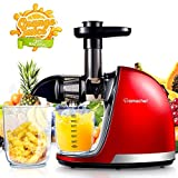 AMZCHEF Juicer, Slow Masticating Juicer Extractor Professional Machine with Quiet Motor/Reverse...