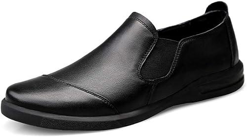 GBY GBY Homme Conducteur Mocassin Cuir Décontracté Semelle Souple Couleur Unie Affaires Bean Chaussures Mocassins Bateau Chaussures Habillées