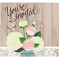 Creative Converting 898706 素朴な結婚式 折りたたみ式招待状 ワンサイズ マルチカラー