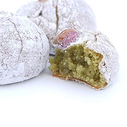 Pâtisseries de pâte d'amande sicilienne a la pistache, en pack d'épargne (kg.1). RAREZZE: tout droit de la Sicile par ancienne pâtisserie artisanale sicilienne
