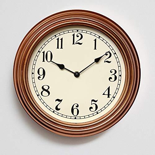 MYYXGS Relojes de pared vintage decorativos relojes de pared relojes de pared silenciosos no caen relojes de pared de plástico silenciosos relojes de cuarzo
