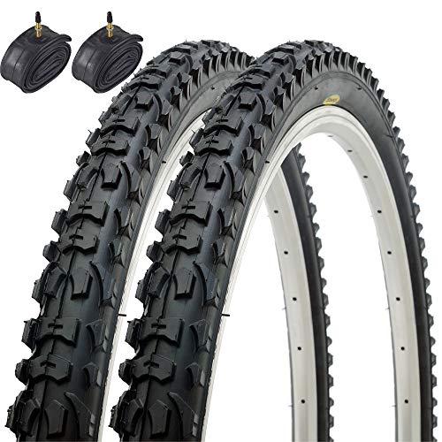 Fincci Par Híbrida Plegable Neumáticos de Bicicleta de Montaña Cubiertas 26 x...