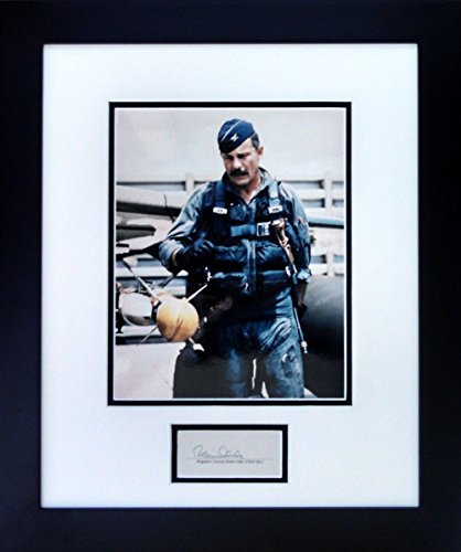 Planejunkie Gen. Robin Olds in his Flight Suit w/Autograph - Aviation Collectibles & Gifts - Framed Photograph