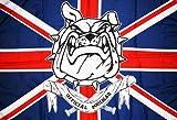 AZ FLAG Flagge Official Hooligan Vereinigtes KÖNIGREICH 150x90cm - BRITISCHE Fahne 90 x 150 cm feiner Polyester - flaggen