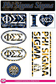 Phi Sigma Sigma - Sticker Sheet - Animal Print