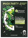 Garnier Skinactive Coffret 5x Masques Tissu au Charbon Végétal