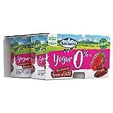 Central Lechera Asturiana - Yogurt Desnatado 0,0% M.G. con Trozos de Fresa y Dátil, Edulcorado con Stevia, 4 Unidades de 125 g