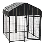 Lucky Dog 60445 4'6' x 4' x 4' Welded Wire Dog Kennel with Heavy Duty Cover, Black