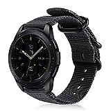 FINTIE Cinturino Compatible con Galaxy Watch 42mm/Galaxy Watch Active/Active 2/Gear Sport/Gear S2 Classic/Huawei Watch 2, 20mm Morbido Nylon Sport Regolabile Wrist Bands con Fibbia Metallica,Ne