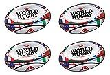 Beistle Lot de 4 ballons de rugby - Décorations de sport britanniques - 35,6 cm - Multicolore